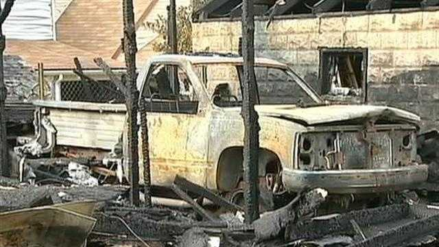 Glassport fire--burned car