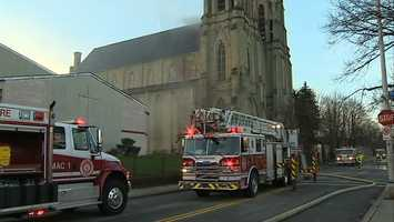 Firefighters were called to St. Peter and Paul Roman Catholic Church in East Liberty on Wednesday morning.