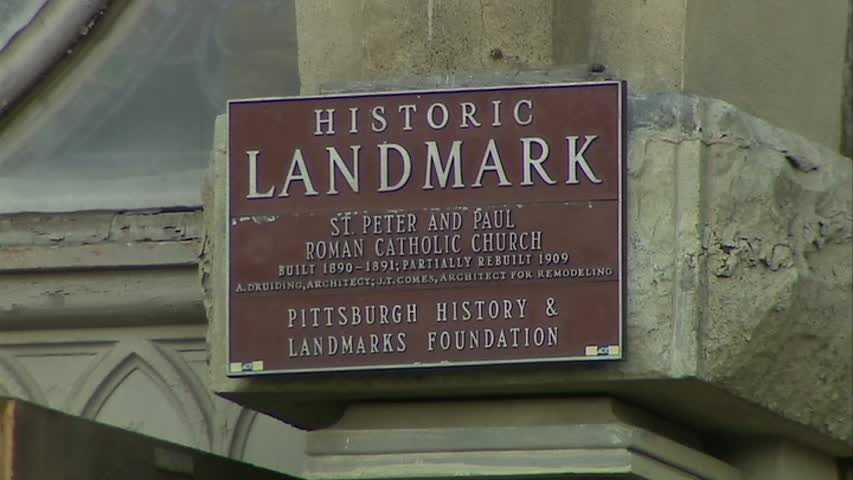 The church, which was built in 1890-91 and partially rebuilt in 1909, received historic landmark status from the Pittsburgh History & Landmarks Foundation.