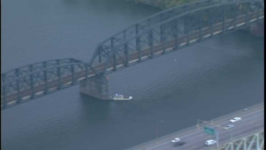 The Panhandle Bridge (officially the Monongahela River Bridge) carries Port Authority trolleys across the river.