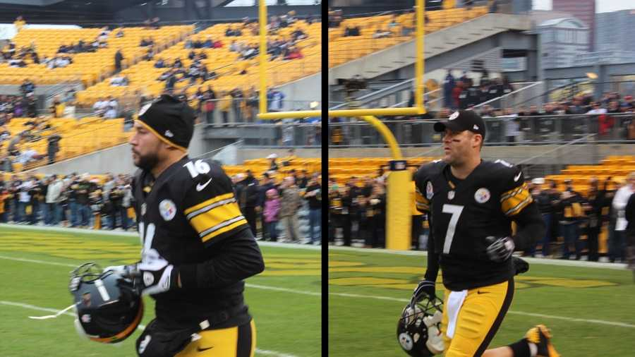 Charlie Batch & Ben Roethlisberger both suit up for the game against the San Diego Chargers