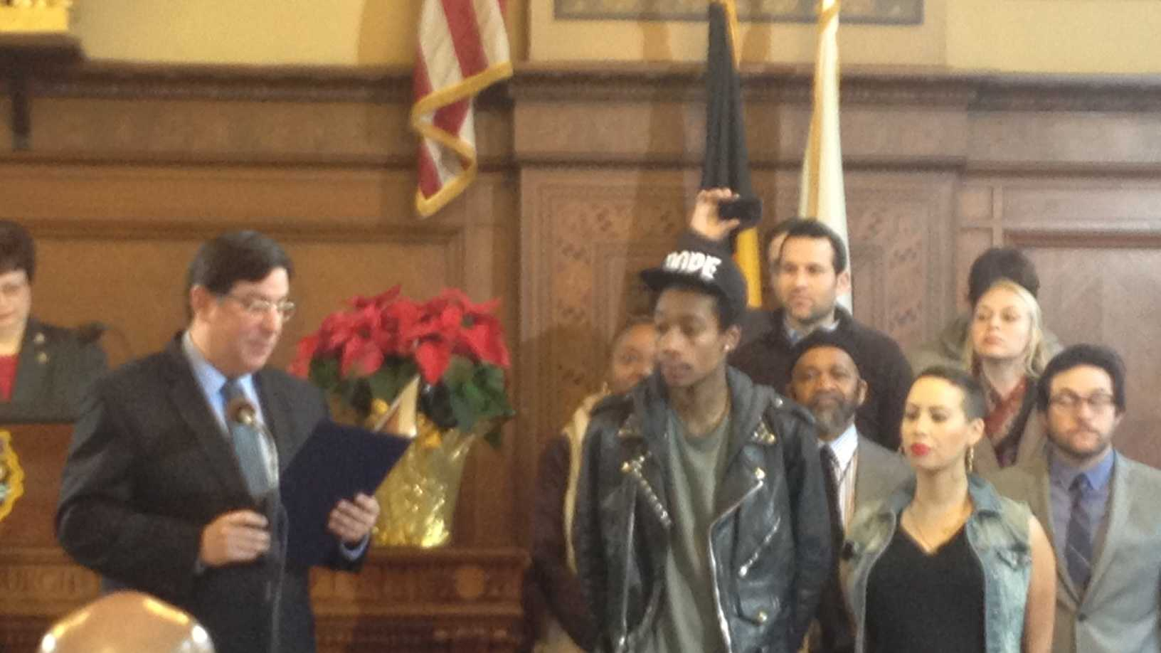 Wiz Khalifa in Pittsburgh City Council chambers
