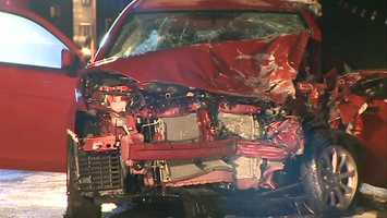 The crash happened in Hempfield Township near the Westmoreland Mall at about 2:30 a.m.
