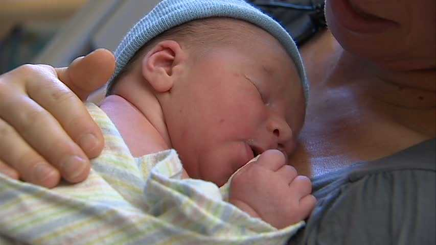 Pittsburgh's first baby of 12/12/12 was born early Wednesday morning -- and wouldn't you know, he was 12 days early.