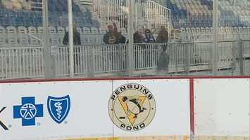 """""""The new Highmark Stadium will be a spectacular venue for 'Penguins Pond,' giving kids and families a chance to skate together outdoors while enjoying the breathtaking Pittsburgh skyline,"""" said David Morehouse, CEO and President of the Penguins."""