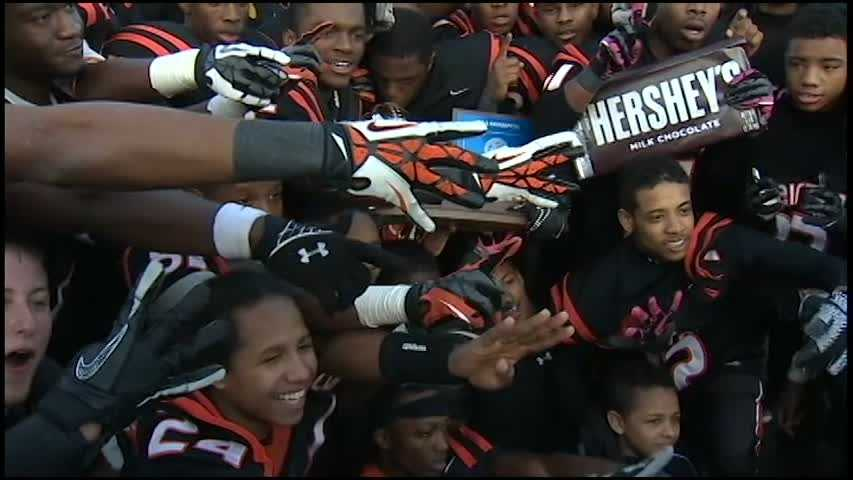 Clairton Bears with trophy