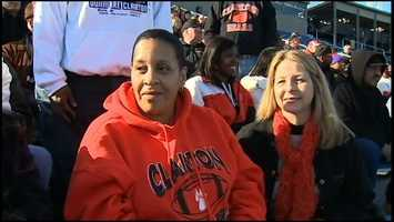 Hundreds of Bears fans wearing black and orange roared their approval from the stands on a cold but sunny afternoon in Hershey.