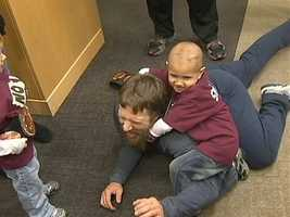 Connor Michalek, who is suffering from brain cancer, got to have his wish come true and meet his favorite WWE wrestling star.