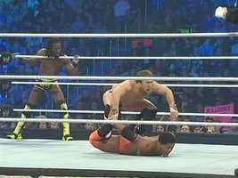 Bryan and his partner, Kane, teamed with Kofi Kingston and won a big six-man tag team match.