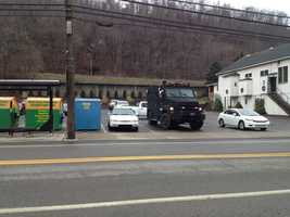 The SWAT team responded to a house on Baldwin Road after a reported domestic disturbance.