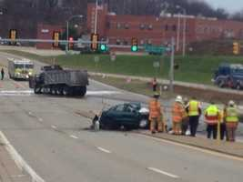 One man has died after a violent wreck on route 30 in Hempfield Township in Westmoreland County.