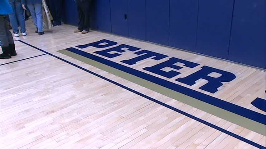 """The court is now named """"Peter Sauer '95 Court"""""""