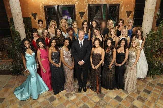 """THE BACHELOR - The next edition of ABC's hit romance reality series, """"The Bachelor,"""" returns to ABC for its 17th season in January 2013. BACK ROW: LESLIE, DANIELLA, KELLY, LESLEY, PAIGE, KRISTY, MYSTERY BACHELORETTE, LACEY, DIANA, TARYN&#x3B; MIDDLE ROW: DESIREE, ASHLEE, AMANDA, BROOKE, ASHLEY P., KERIANN, SARAH, LINDSAY&#x3B; FRONT ROW: ASHLEY H., KATIE, CATHERINE, ROBYN, SEAN LOWE, JACKIE, TIERRA, SELMA, LAUREN"""