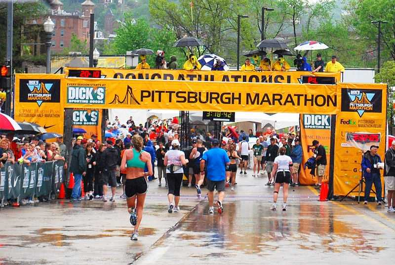 #3 - Andrew finished 2010 Pittsburgh Marathon in 4 hours, 35 minutes