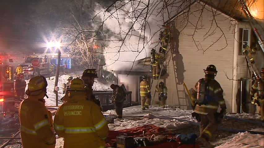 The fire on Plateau Street, near Copperfield Avenue, was reported shortly before 4 a.m.
