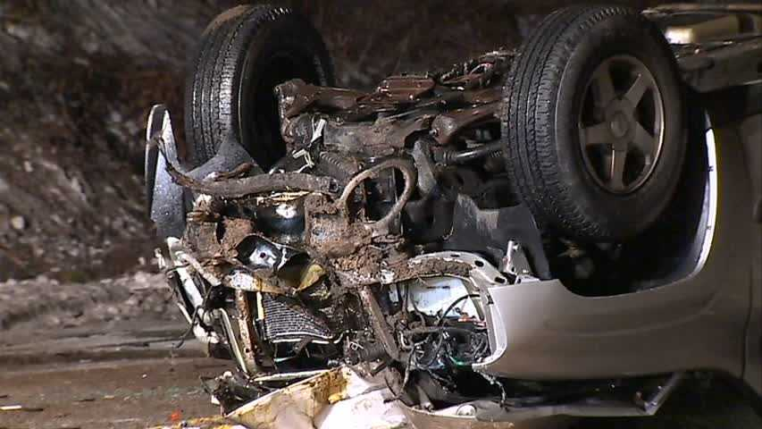 The crash happened early Tuesday morning on Allegheny River Boulevard.