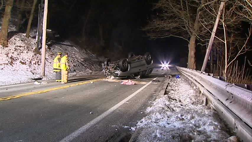 The driver was freed from the wreckage with hydraulic rescue tools.