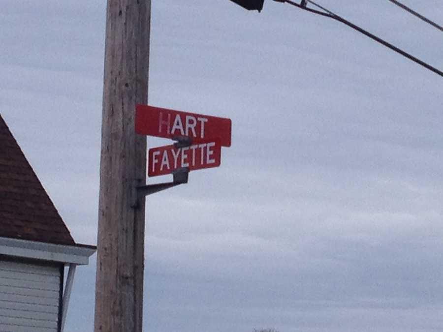 Corner of Fayette Street and Hart Avenue in Washington, Pa.