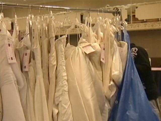 """More than 1,000 wedding gowns are on sale at the Brides Against Breast Cancer """"Nationwide Tour of Gowns."""""""