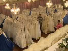 The gowns will be for sale at discounts from 25 to 85 percent on Jan. 12 and 13 at the Fez at 2312 Brodhead Road in Aliquppa.