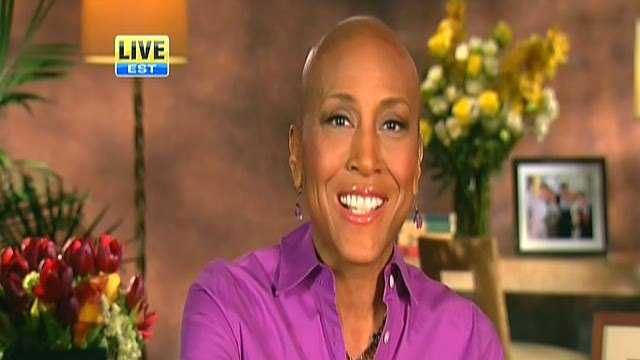 "Robin Roberts says her last bone marrow test shows no abnormalities and she's ""coming home"" to Good Morning America. She thanked viewers and her co-workers on GMA."