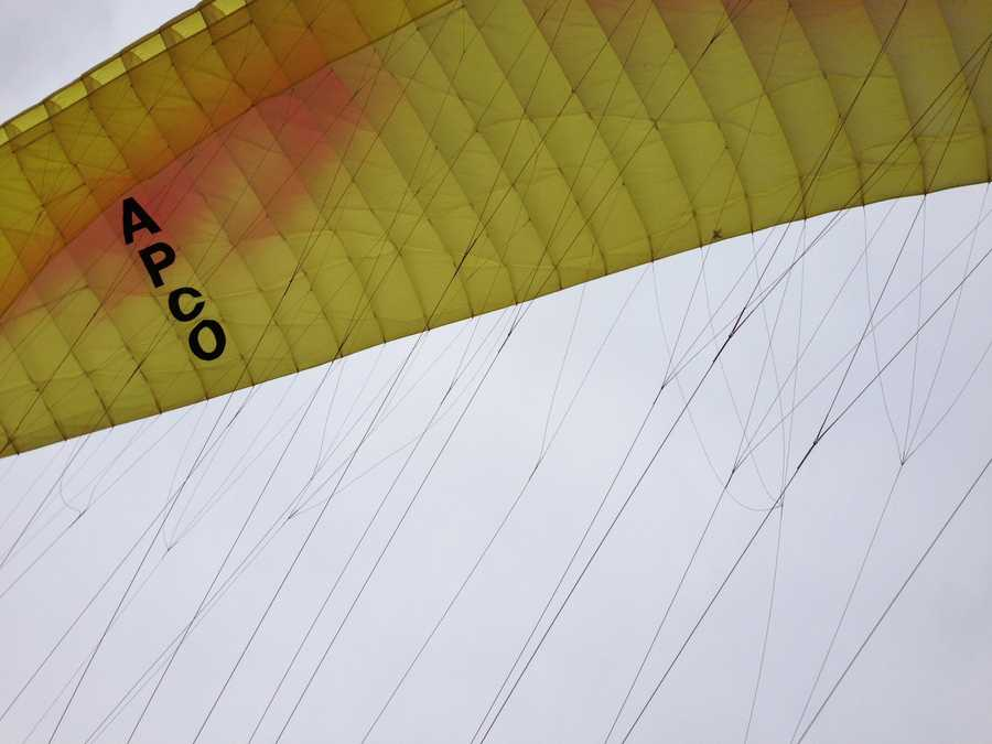 Video: Watch Sally Wiggin's report on the paragliding duo