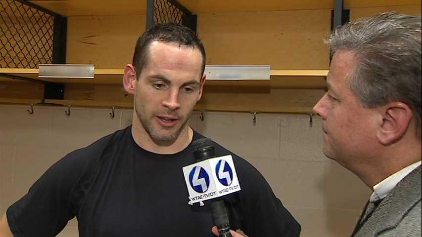 #27 Penguins Right Wing, Craig Adams post game