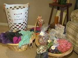 """Maddie said the plans to deliver the scarves to patients at the Hillman Cancer Center on Valentine's Day so """"people can feel loved."""""""