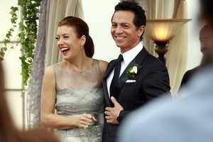 "Naomi returns to stand by Addison's side on her wedding day, Cooper struggles with the hardships of being a stay-at-home father, and Violet begins a new project close to her heart, on the Series Finale of ""Private Practice,"""