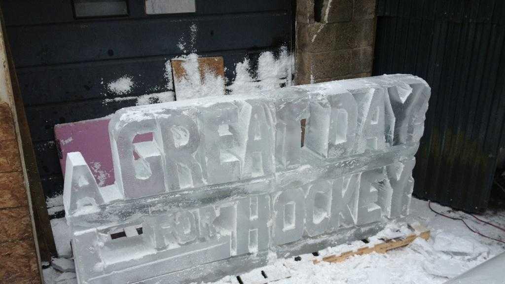 Pens ice sculpture 08