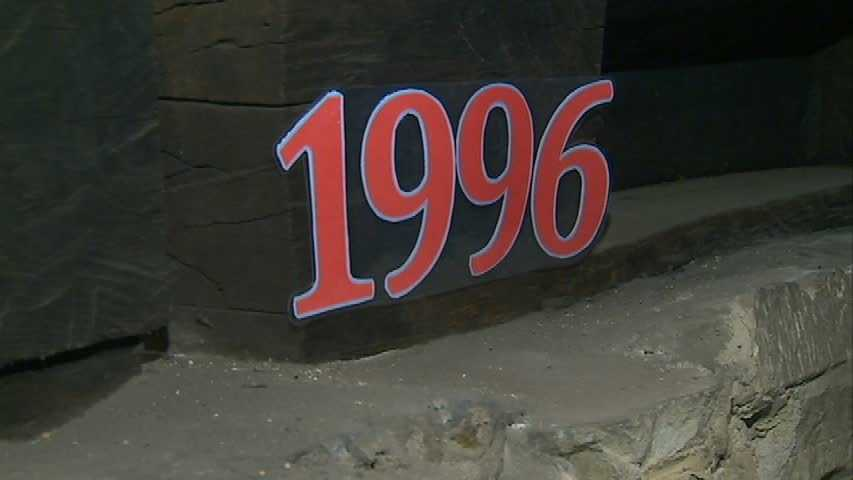... and 1996, closer to ground level of the blockhouse.