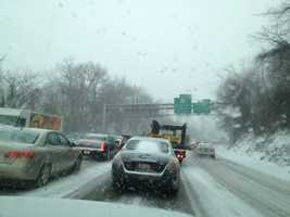 Parkway West , Greentree Hill outbound. (Action News' Kelly Brennan and crew took this photo)