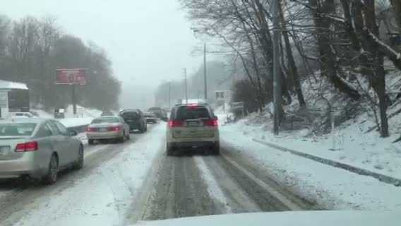 Traffic on McKnight Road in Ross Township.