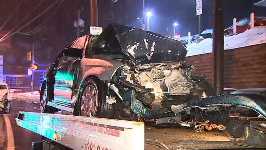 Two cars were involved in a crash on West Liberty Avenue inBeechview.