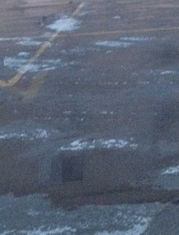 Here's an icy parking lot along Potomac Avenue.