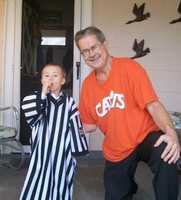 "Every time Janelle's young son sees a ref -- it doesn't matter what sport -- he yells, ""Papa!"""