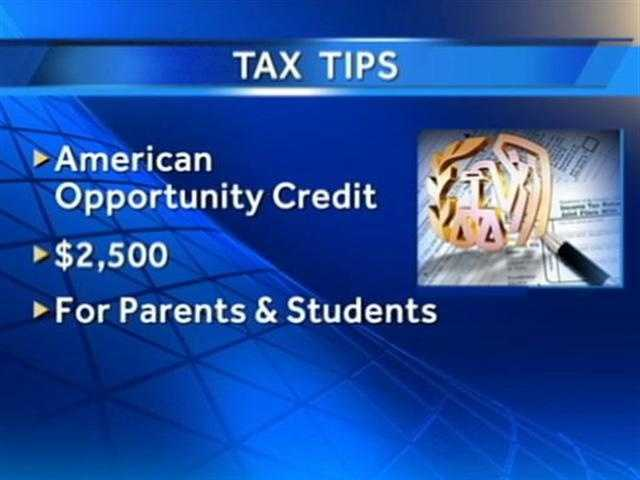 The American Opportunity Tax Credit provides up to $2,500 for people pursuing undergraduate education.