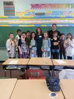 Weather Watch 4 Meteorologist Ashley Dougherty and Action Sports' Justin Rose participated in Holy Child Catholics's Career Day for grades K-6 in Bridgeville, PA.