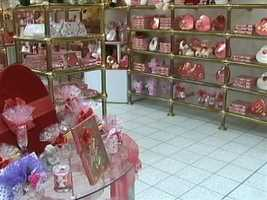 Chocolates are for sale in theSarris Candies shop.