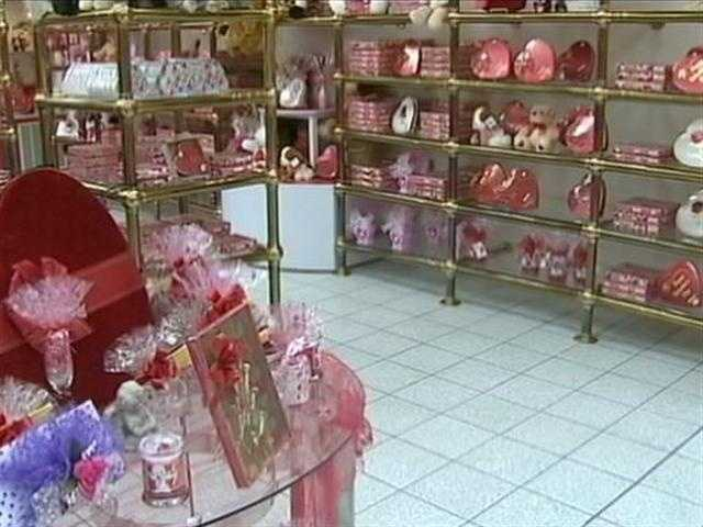 Chocolates are for sale in the Sarris Candies shop.