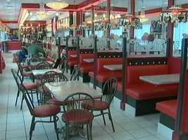 The ice cream shop atSarris Candies.