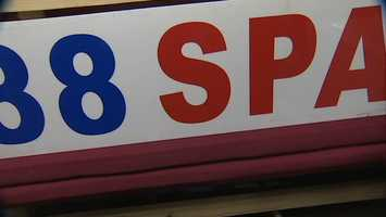 88 Spa in Bridgeville was raided by police.