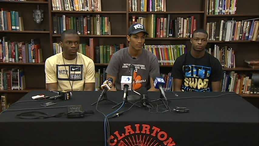 Terrish Webb, Tyler Boyd and Titus Howard