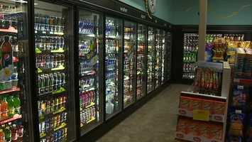 The store also saves energy by using non-ozone depleting refrigerants.