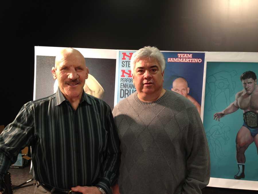 Bruno Sammartino with friend Marty Lazzaro