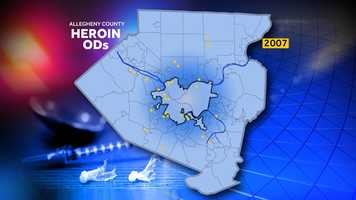 Using statistics from the Allegheny County medical examiner, these maps show how heroin overdoses have grown from 2007 to 2012.