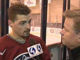 It starts with captain Tommy Olczyk, who played his high school hockey at Chartiers Valley. The sophomore forward is also the son of former Pittsburgh Penguins forward and head coach Eddie Olczyk. (Watch Guy Junker's interview with Tommy Olczyk)