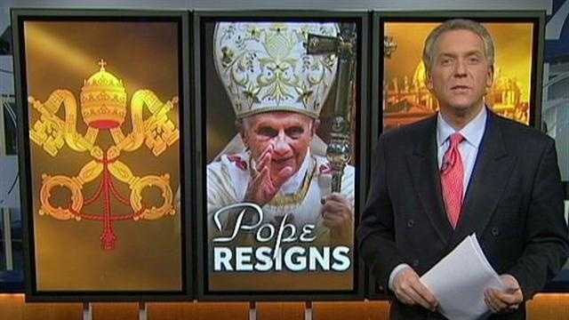 No Pope has resigned since the 1400's until today when Pope Benedict XVI announced his resignation.