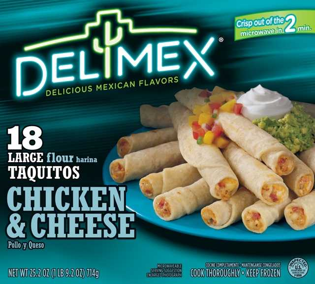 And Delimex taquitos and tamales.