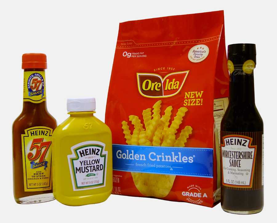 Heinz also cranks out its own mustard, steak sauce and Worcestershire sauce. Did you know they do Ore-Ida fries too?